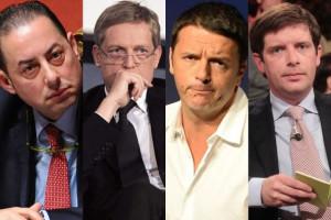 Gianni Cuperlo, Matteo Renzi, Gianni Pittella e Pippo Civati