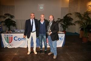 Massimo Drago con Perri e Zurlo alla Festa dello Sport 2014 a Crotone