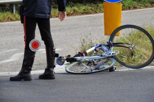 Ciclista incidente