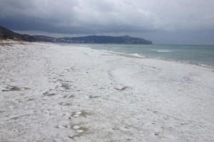 Neve in spiaggia
