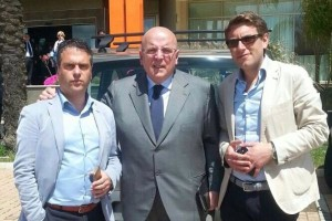 Oliverio con Giuseppe Pascuzzi e Filippo Garofalo