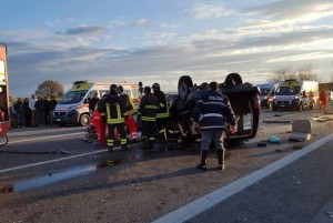 Incidente SS106 a Villapiana (Foto Basta Vittime)