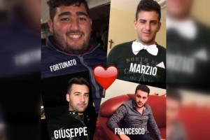 Fortunato Calderazzo, Marzio Canerossi e Francesco Carrozza e Giuseppe Speranza