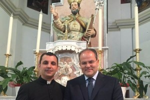 Don Francesco Scalise e Michele Affidato