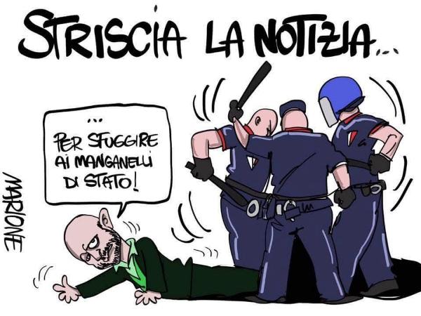Striscia la Notizia, l'inviato Luca Abete picchiato dalla polizia