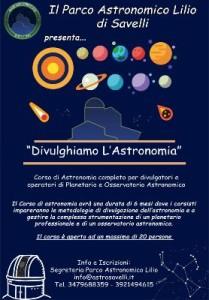 Al via il Corso di Astronomia al Parco Lilio di Savelli1