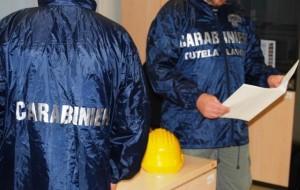 Carabinieri allaccio abusivo e furto di energia, ispettorato lavoro