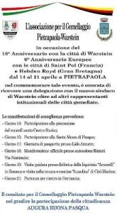 16 anniversario gemellaggio Pietrapaola-Warstein