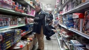 Paola, Sequestrati 118 mila cosmetici, articoli elettrici e giocattoli insicuri e pericolosi per la salute