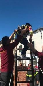 300 bambini pompieri con pettorina, casco ed imbrago, nel percorso della Pompieropoli a Cotronei3
