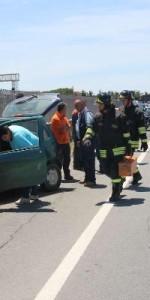 Crotone- incidente stradale sulla statale 106, 3 feriti3