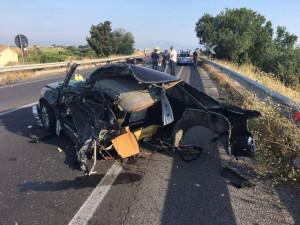 Lorenzo simeri vittima della SS106 in un impatto nella mattina di oggi a Rossano1