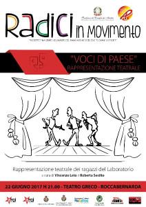 Teatro e fotografia con i ragazzi dei Laboratori del progetto Radici in Movimento a Roccabernarda