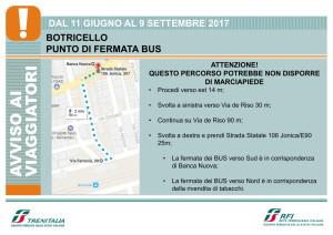 Trenitalia Treni Punto di fermata bus a Botricello