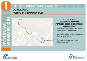 Trenitalia Treni Punto di fermata bus a Corigliano