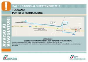 Trenitalia Treni Punto di fermata bus a Toscano