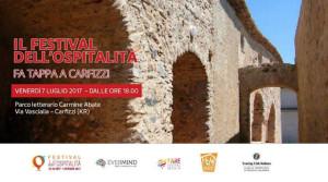 Festival dell'Ospitalità 2017- la 2^ tappa pre-festival sarà a Carfizzi il 7 Luglio