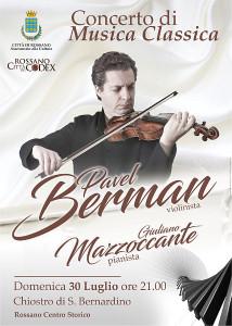 Il famoso violinista russo Berman a Rossano