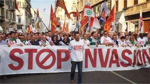 Matteo Salvini in Calabria contro l'invasione degli immigrati