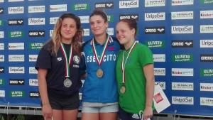 Podio femminile 3 metri: Laura Granelli, Elena Bertocchi, Chiara Pellacani