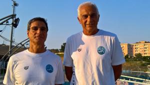 La Lacinia Nuoto di Crotone ai Campionati del Mondo di nuoto Master di Budapest - da sx GAROFALO - SINOPOLI