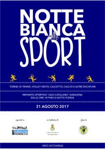 Notte bianca dello sport a Saracena-locandina