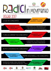 Radici In Movimento a Roccabernarda dal 11 agosto al 3 settembre 2017