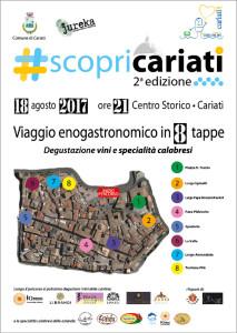 ScopriCariati seconda edizione del viaggio enogastronomico per le vie del centro storico1