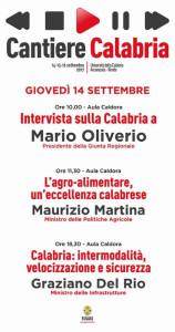 Al via domani i lavori di Cantiere Calabria