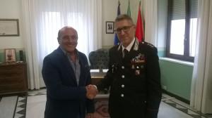 Crotone, il benvenuto al nuovo comandante provinciale dei Carabinieri, colonnello Alessandro Colella