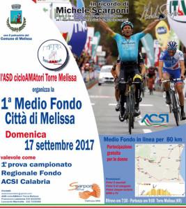 Manifestazione sportiva itinerante, denominata 1Medio Fondo Città di Melissa