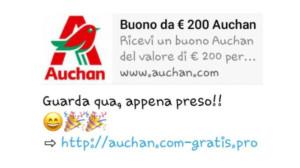 Truffe online Buoni spesa falsi, nel mirino c'è l'Auchan