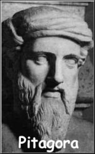 pitagora - volto in marmo