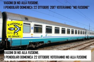 I Pendolari della linea Jonica per il No fusione di Rossano e Corigliano
