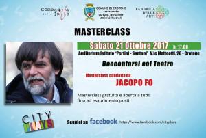 Il 21 ottobre Jacopo Fo a Crotone