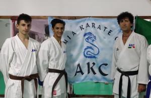 Karate: Lo Iacono e Marchio dell'AKC, alla Finale Nazionale del campionato Italiano Juniores Lo Iacono, Marchio, M° Stefanizzi
