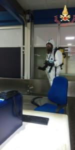 Scoppio simulato di un ordigno all'interno dell'area Check-in dell'Aeroporto di Lamezia Terme (12)
