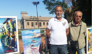 Tonio Fortebraccio, Francesco Mangialardi e Michele Potenza in una mostra en plein air (1)