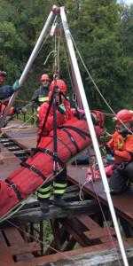 Addestramento dei Vigili del Fuoco su un ponte dismesso delle Ferrovie Calabro Lucane (4)