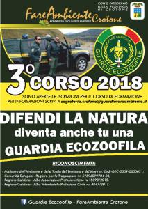 Aperte le iscrizioni al Corso di Vigilanza Ecozoofila