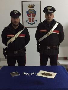 Droga nel divano di casa, arrestato dai Carabinieri