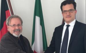 Il nuovo Console Generale Taborri incontra il Presidente del Comites di Hannover Scigliano