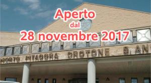 L'Aeroporto Sant'Anna di Crotone riaprirà dal 28 novembre