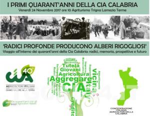 La Cia-Agricoltori Italiani Calabria celebra i 40 anni