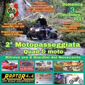 Lamezia Terme domenica 3 dicembre, seconda edizione Motopasseggiata Quad e Moto (1)