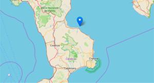 Terremoto in Calabria, scossa di magnitudo 2.5 nel mare zona Mirto-Rossano