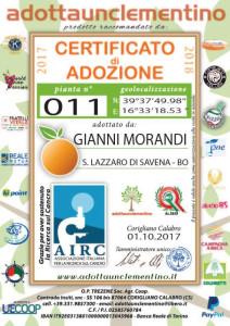 """Gianni Morandi """"Adotta"""" le Clementine di Corigliano Calabro (1)"""