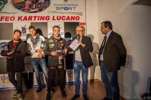 Il pilota disabile coriglianese Alessandro Chiarelli sul podio del Trofeo Karting Lucano