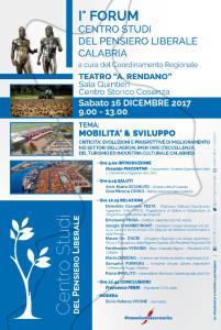 Primo forum regionale a Cosenza Mobilità Sviluppo – Criticità