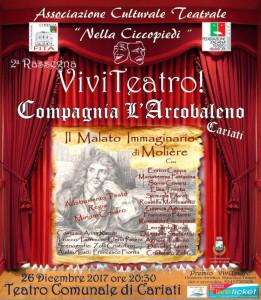 """Rassegna Viviteatro """"Il malato immaginario"""" di Molière, il 26 dicembre nel Teatro di Cariati (1)"""